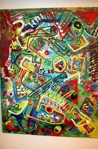 Esta obra el maestro Camilo Umaña pertenece a la exposición 'Lienzos desprendidos'.