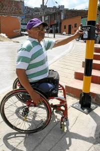 La primera prueba se realizó el jueves en el sector de la calle 4 con carrera 11 del barrio Villabel. Foto: Mauricio Betancourt