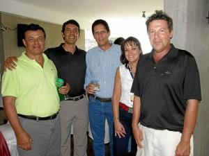 Alfonso Tarazona, Jorge Alberto Cavanzo, Julián Serrano, Myriam Vargas y Camilo Acosta. ( Foto Javier Gutiérrez ) / GENTE DE CAÑAVERAL