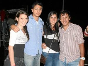 Nancy Amaya, Óscar Rodríguez, Derin Aguedo y Roberto Carlos Rincón.