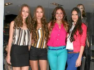 Alejandra Vargas, Estefani Rodríguez, Silvia Becerra (exparticipante del reality 'El Desafio' de Caracol Televisión) y Tataina Arias.