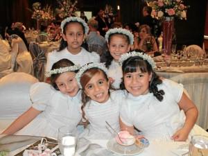 Sofía Bueno, Kristel Catalina Díaz, Mariana Beltrán, María José Barrera y Valentina Ordóñez.