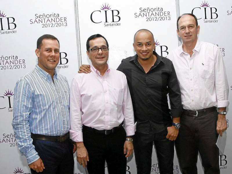 Jorge Guerrero, Fernando Pastrana, John Alonso Rodríguez y Oscar Franco.