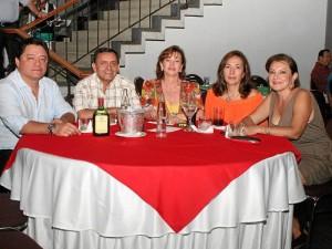 Edison Torres, Luis Francisco Castillo, Elizabeth Forero, Lilian Flórez y Nubia Vargas.