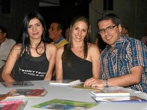 Angie Argüello, Rosa Margarita Niño y Sergio Peñaranda. ( Foto Mauricio Betancourt )