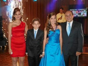 Sandra Quintero, Juan Cárdenas, Paola Cárdenas y Luis Fernando Cárdenas.  ( Foto Nelson Díaz )
