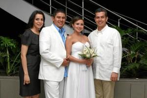 Alejandra Correa, Gerardo Aníbal Lizarazo, Diana Carolina Sánchez y Carlos Andrés Ayala.