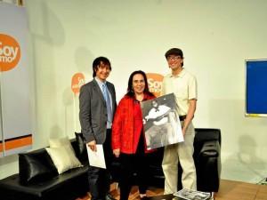 Abelardo Carreño, la maestra Alejandra Matiz y Javier Montero.