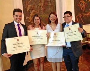 Daniel Henao, Álix Adriana Arango, Elsa Archila y John Quintero.