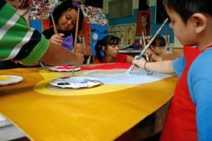 Fotografías del Taller de arte para niños, Spinosa.