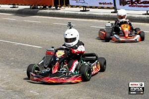Durante la competencia el pequeño piloto demostró que tenía todo lo que se necesitaba para subirse al podio.