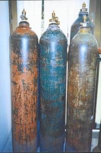 Estos son cilindros decomisados que no reúnen las condiciones de seguridad.
