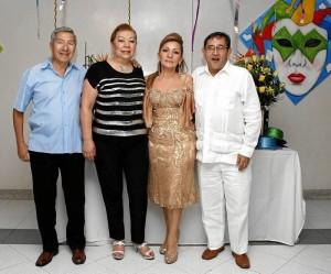 Jairo Augusto Betancourt, Cecilia Romero, Mabel Henao de Álvarez y Alfonso Álvarez.