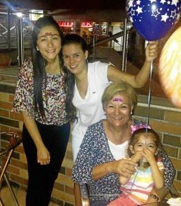 Carolina Aguirre Marín, Camila Prada, Gladys Rodríguez y Mariana Aguirre.