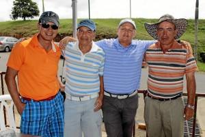 Eduardo Ramírez, Rodrigo Barbosa, Pedro Álvarez y Eduardo Garcés.