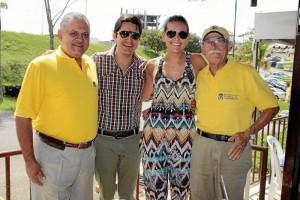 Joaquín Fernández, Jorge Azuero, Camila Loaiza y Maceo Duarte.