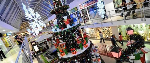 La Navidad ya se vive en los centros comerciales del sector