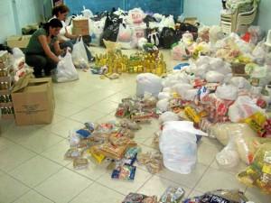 El año pasado en junio el MPPC recogió ayudas para los damnificados del invierno en Tona.