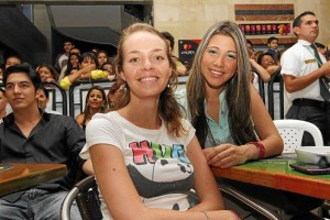 Leidy Ramírez y Angélica Chaparro.