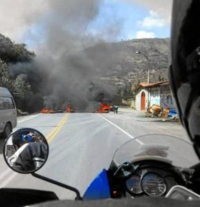 El momento más difícil del viaje fue cuando se enfrentaron a una protesta en Perú. Suministrada / GENTE DE CAÑAVERAL