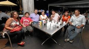 Claudia Gómez, Nicolás Cerón, Martín Cerón, Érika Grandas, Edilberto Grandas, Fanny Ardila y Hugo Pinillos.