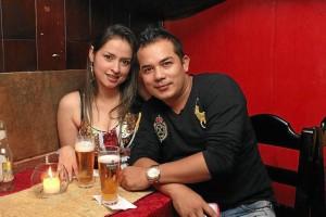 Angie Montoya y Óscar Gil.
