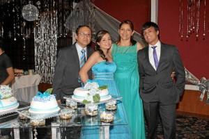 Miguel Roberto Pinzón, María Andrea Pinzón, Arabeli Hernández y Juan Pablo Rueda.