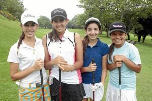 Daniela Marín, Natalia Nassar, Valentina Díaz y Laila Maalak. (Foto Javier Gutiérrez).