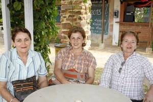Lucila Carillo, Luz Marina Galvis y Rosa Carrillo (Foto Nelson Díaz).