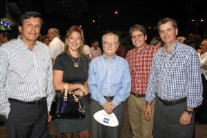 Rafael Marín, Paola Arenas, Eduardo Rueda, Juan Pablo Rueda y Jorge Eduardo Rueda.