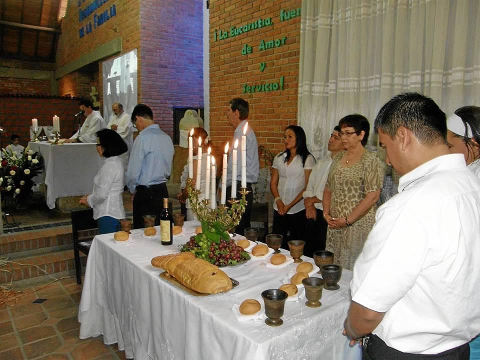 Celebración de la Semana Santa 2012 en la parroquia Santa María del Bosque.