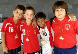 David Montoya, Santiago Ayala, Mateo Sarmiento, Rafael Santamaría.