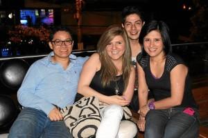 Alexander Bello, Liseth González, José Bueno y Maryori Gómez.
