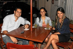 José Fortich, Tania Rodríguez y Jimena Suárez.
