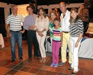 Jorge León, Guillermo Carreño, María Teresa León, Cecilia Reyes de León, Jaime Arango, Victoria León e Isabel Arango.