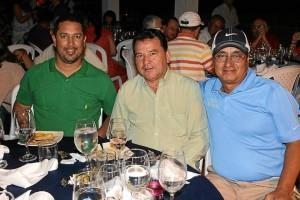 Israel Molina, Alonzo Herrera Bautista y Orlando Rueda.