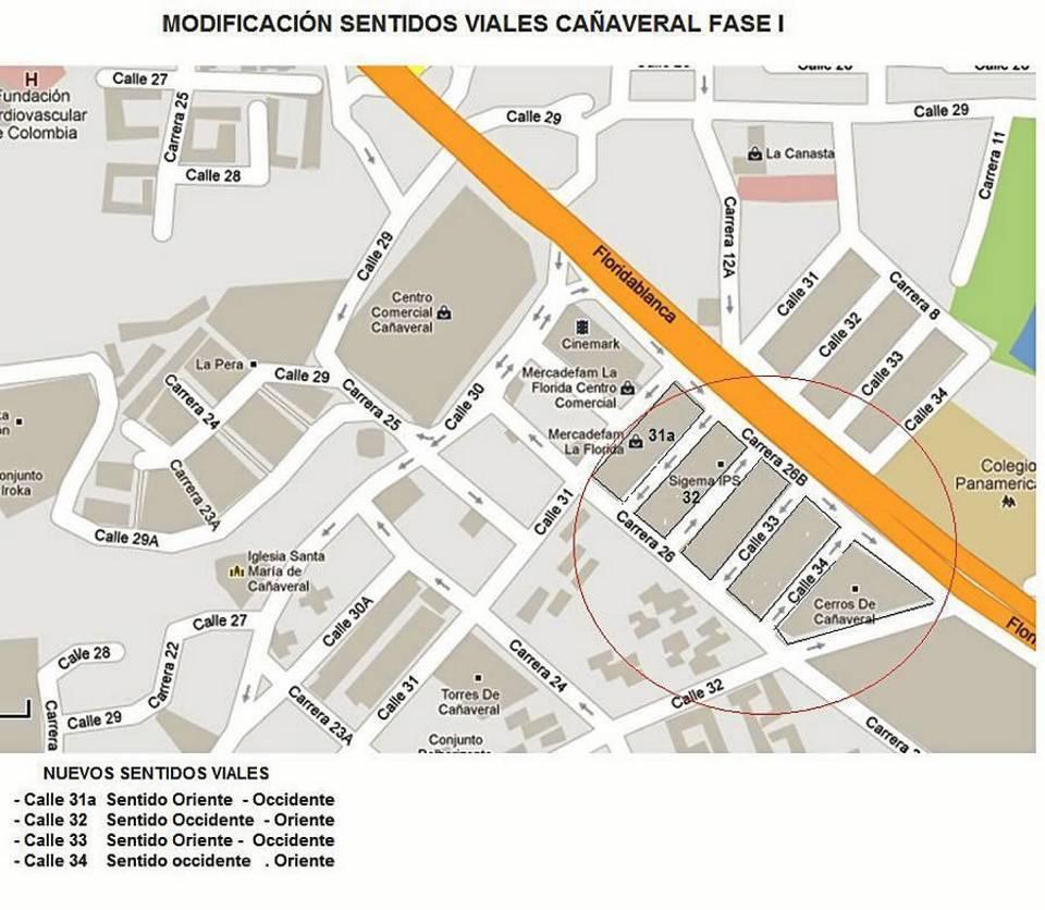 Desde el próximo 1 de mayo las calles señaladas en el gráfico dejarán de ser vías de doble sentido para convertirse en unidireccionales.
