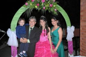 Simón Fernando Flórez Cortés, Libardo Cortés, María KetherineCortés López y Sonia Luz López.