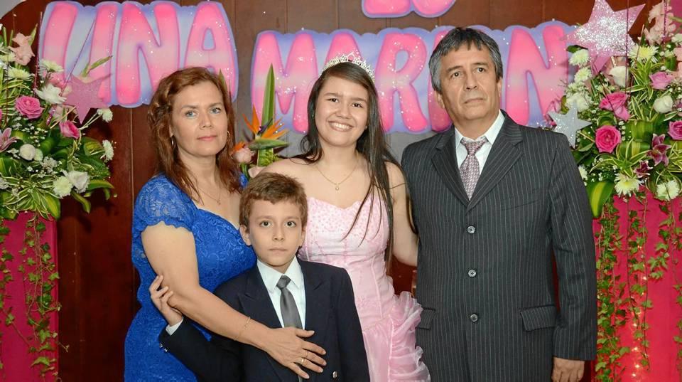 Luz Amparo Delgado, Diego Orlando Martínez Delgado, Lina María Martínez Delgado y Orlando Martínez Moreno.