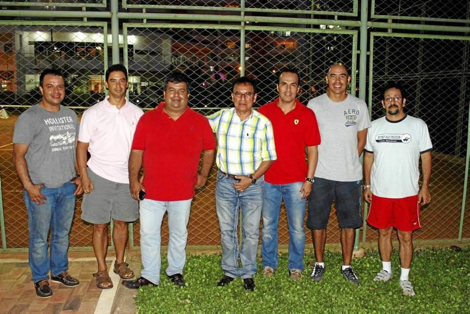 William Arguello, Juan Carlos Cubillos, Carlos Sarmiento, Eduardo Cobos, Javier Gaviria, Gustavo Ramírez y Élmer Herrera.