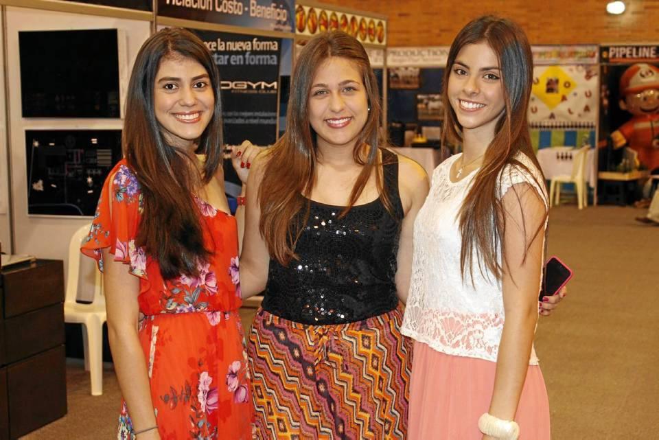 Angie Ariza, Isabela Zuluaga y Ximena Puentes.