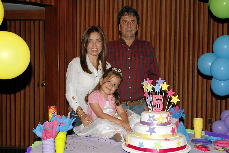 Claudia Lancheros, Sofía Cortés y Luis Hernán Cortés