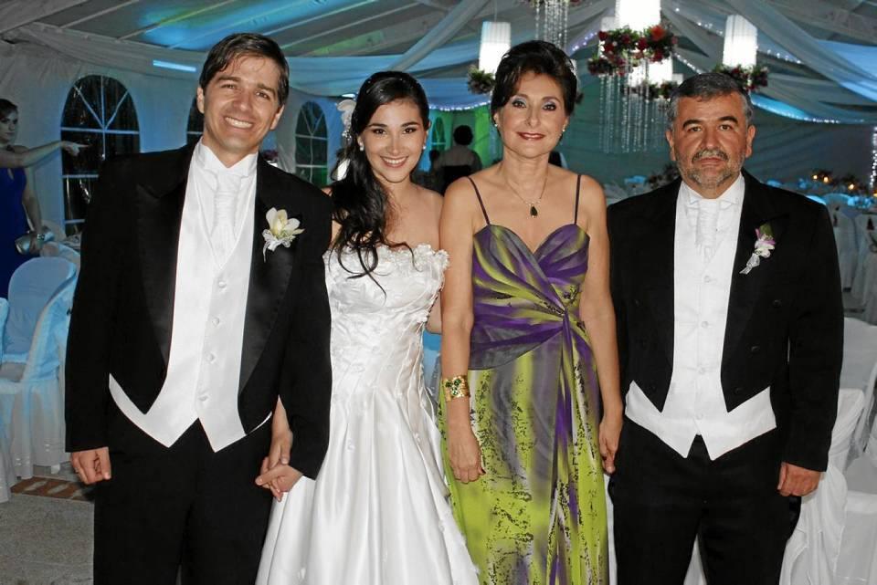 Tomás Carvajal, Lucía Franco Corso, Luz Marina Corso y Alberto Franco.