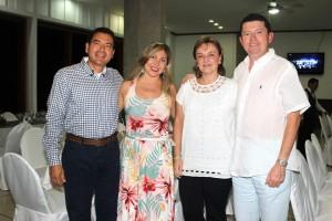 Mario Bueno, María Andrea Toro, María Claudia Ordóñez y Juan Mauricio Suárez. - Fotos: Mauricio Betancourt / GENTE DE CAÑAVERAL