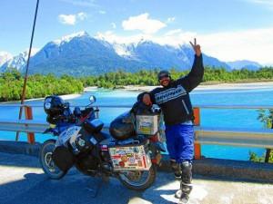 Richi Mantilla en la Carretera Austral , Patagonia Chilena. Imagen suministrada / GENTE DE CAÑAVERAL