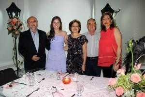Florentino Rodríguez, María Fernanda Rodríguez, Gladys Rocío Quintero, Efraim Rodríguez y María Antonia Álvarez. - Mauricio Betancourt / GENTE DE CAÑAVERAL