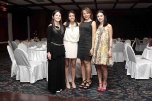 María Carolina García, María Margarita González, Estefany Díaz y Andrea Gómez Vesga. -  Mauricio Betancourt / GENTE DE CAÑAVERAL