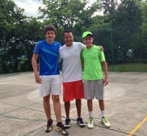 Federico Mendieta Ruiz, Wílmar Núñez y Juan Diego Ruiz Parra. - Suministrada / GENTE DE CAÑAVERAL