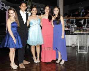 Nana Osorio, Nicolás Álvarez, Alejandra Molano, Nataly Juliana Donado, Valentina Rosado. - Mauricio Betnacourt /GENTE DE CAÑAVERAL