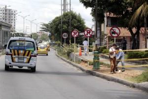 El miércoles fueron instaladas dos señales de tránsito y se realizó un encerramiento en cinta amarilla por parte de la DTTF.  - Javier Gutiérrez / GENTE DE CAÑAVERAL